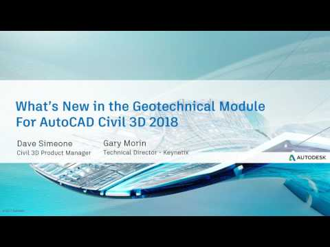Webcast May 17th - What's New in the Civil 3D Geotechnical M