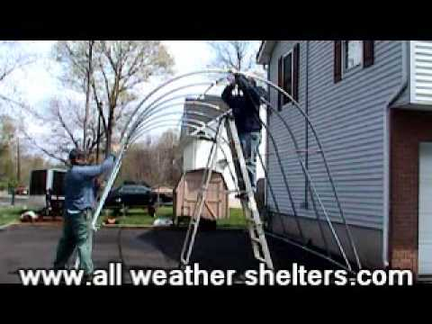 Portable garage & carport install-See how easy it is ...