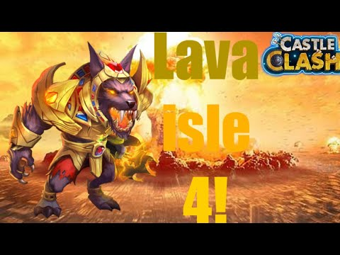 How To Do Lava Isle 4 Using Only 1 Gunslinger And 1 Anubis | Castle Clash | .Grinners.