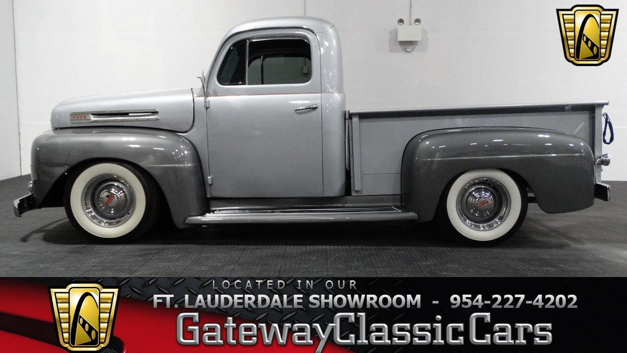 219f Ftl 1950 Ford F100 Youtube 1950s