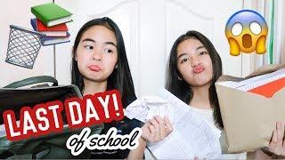 LAST DAY OF SCHOOL (Bag Raid) | Princess And Nicole