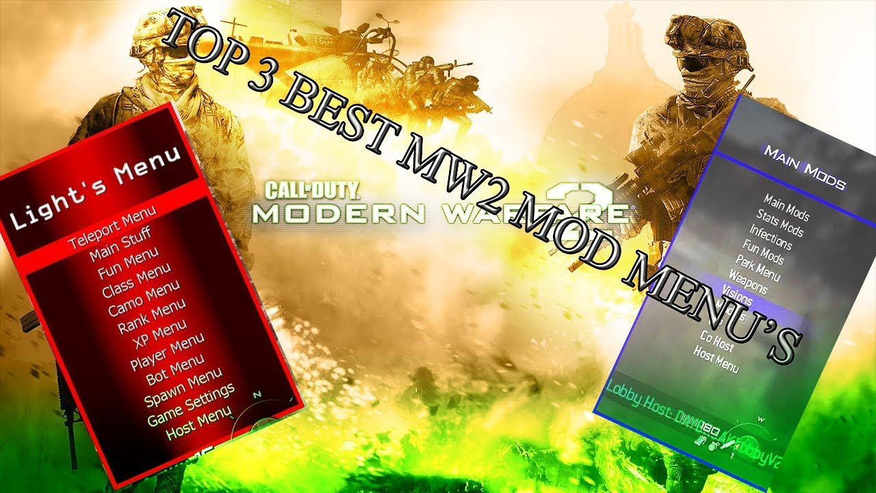 top 3 best iconic mw2 mod menu designs stability for xbox 360