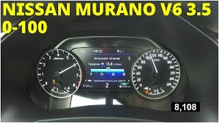 Nissan Murano - Acceleration 0-100 km/h (Racelogic)