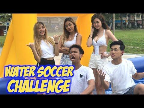 YOUTUBER WATER SOCCER CHALLENGE