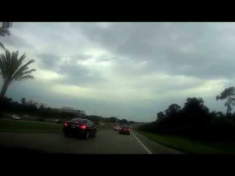 Disney World 2015 Drive from Orlando International Airport to Disney's Saratoga  Springs