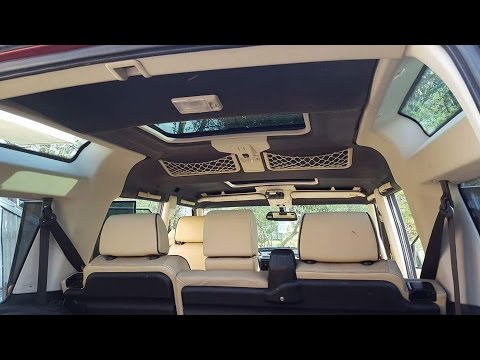 Land Rover sunroof leak repair and bedliner for the headliner - YouTube