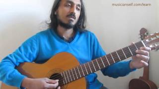 Nenjukkul Peythidum Guitar Beginner | Simple using only the C major scale open string notes