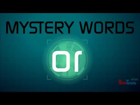 OR Sound- Mystery Words