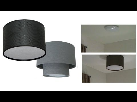 How to make a DIY Drum Shade Ceiling Light Cover   YouTube How to make a DIY Drum Shade Ceiling Light Cover