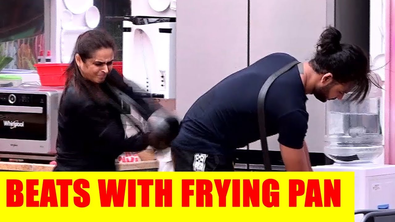 Bigg Boss 13 Update Madhurima Beats Vishal With A Frying Pan