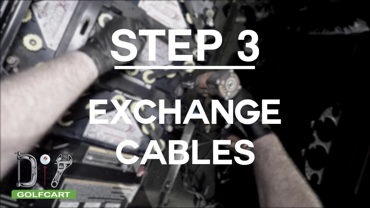 Ezgo Rxv Battery Cable Replacement How To Youtube