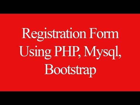 Php Registration Form Tutorial Using Mysql Bootstrap Youtube