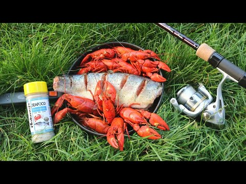 WILD TROUT & SPICY CRAWFISH COOKOUT ON THE RIVER!