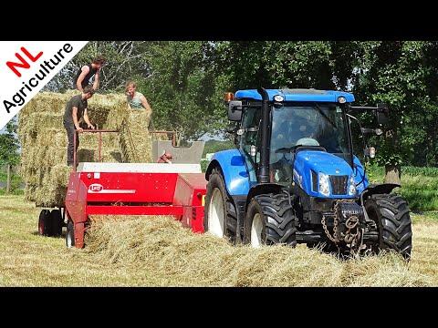 Pressing Bales | New Holland T6.140 + Lely Welger AP 730 | Balen Persen | Erik Van Essen | 2017.