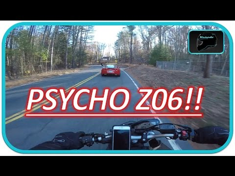 Motorcycle Vs. Corvette Z06 | INSANE CORNER SPEED