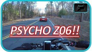 Motorcycle Vs. Corvette Z06 | INSANE CORNER SPEED
