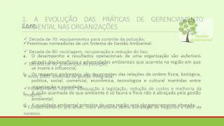 Meio Ambiente - Sistema de Gestão Ambiental - Aula 1