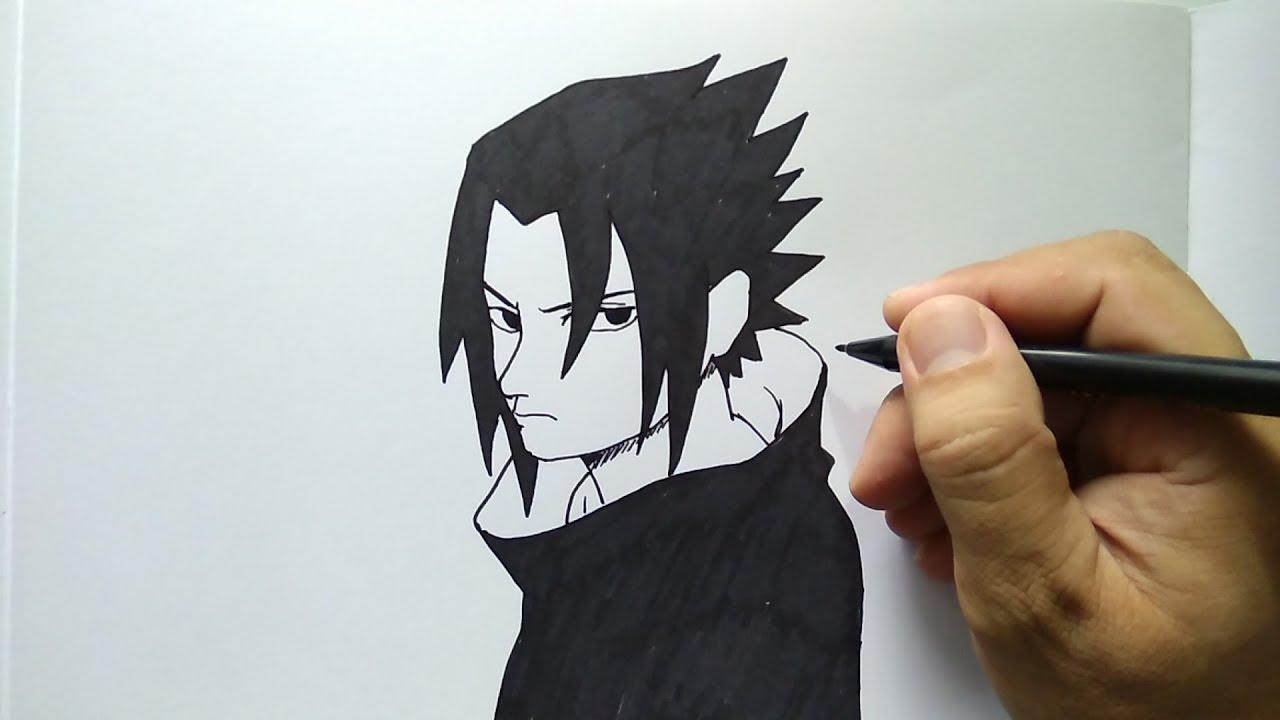Cara Menggambar Sasuke Remaja Naruto Dengan Mudah YouTube