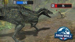 DINOSAUR BATTLES!!! - Jurassic World Alive | Ep2 ( Pokemon GO )