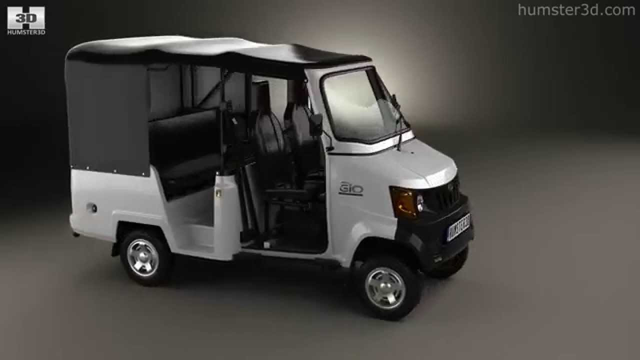 Mahindra Gio Compact Cab 2011 by 3D model store Hum3D com