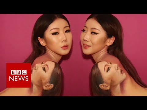 The painter whose skin is her canvas - BBC News