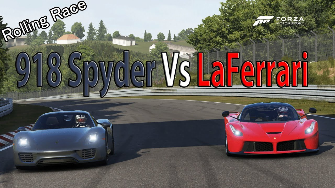 forza motorsport 6 drag race porsche 918 spyder vs ferrari laferrari porsche expansion. Black Bedroom Furniture Sets. Home Design Ideas