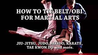How To Tie Your Belt for Martial Arts