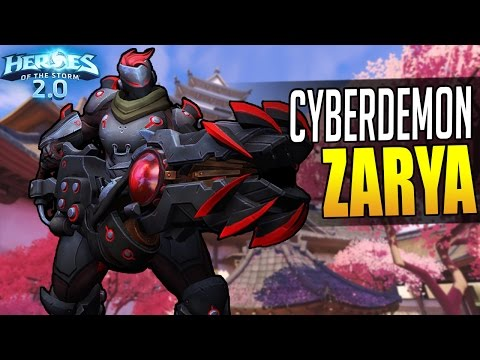 New CYBERDEMON ZARYA skin + her talent changes! // Heroes of the Storm 2.0 Beta