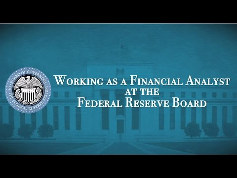 Working as a financial analyst at the Federal Reserve Board