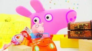 Свинка Пеппа и лабиринт конфет. Игры для детей с игрушками