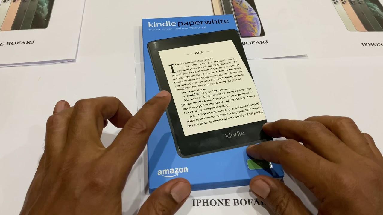 فتح علبة قارئ الكتب الإلكتروني Kindle paperwhite