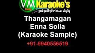 Thangamagan Karaoke Enna Solla Karaoke VM