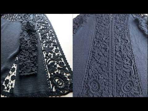 Скромный декор вязаной одежды. Немного изюма (crochet )