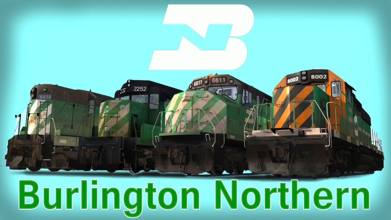 burlington northern railroad youtube. Black Bedroom Furniture Sets. Home Design Ideas