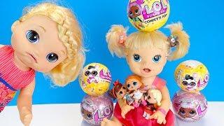 С ЖАДИНОЙ МЫ НЕ ИГРАЕМ! #Куклы Беби Элайв Открывают Шарик #LOL  Играют Как Мама