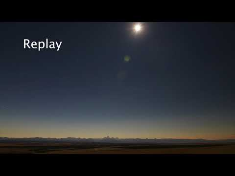 Total Solar Eclipse Time-Lapse  Over Teton Valley, Idaho