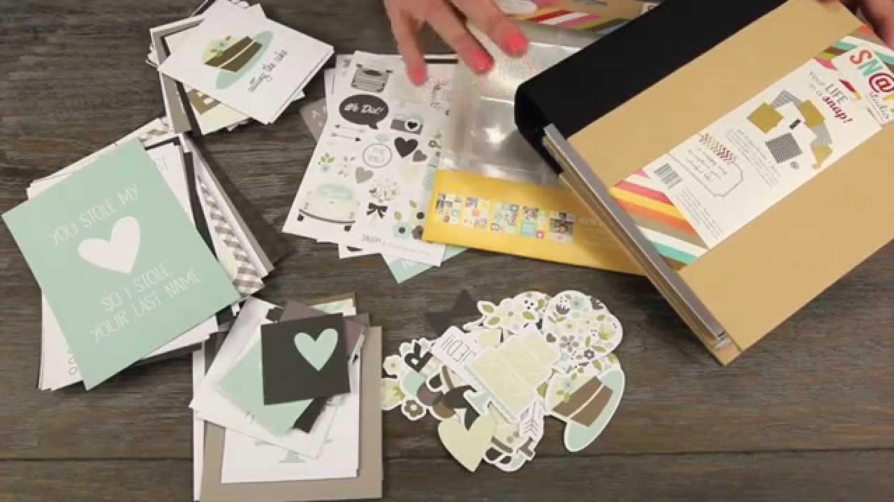 How to scrapbook wedding album - Simple Stories Snap Wedding Album Kit Scrapbook Com