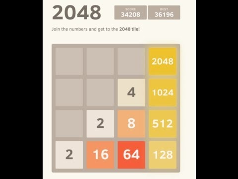 2048: How to achieve a 4096 tile - YouTube