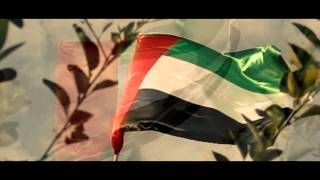 UAE National Anthem - Slow Motion Flag