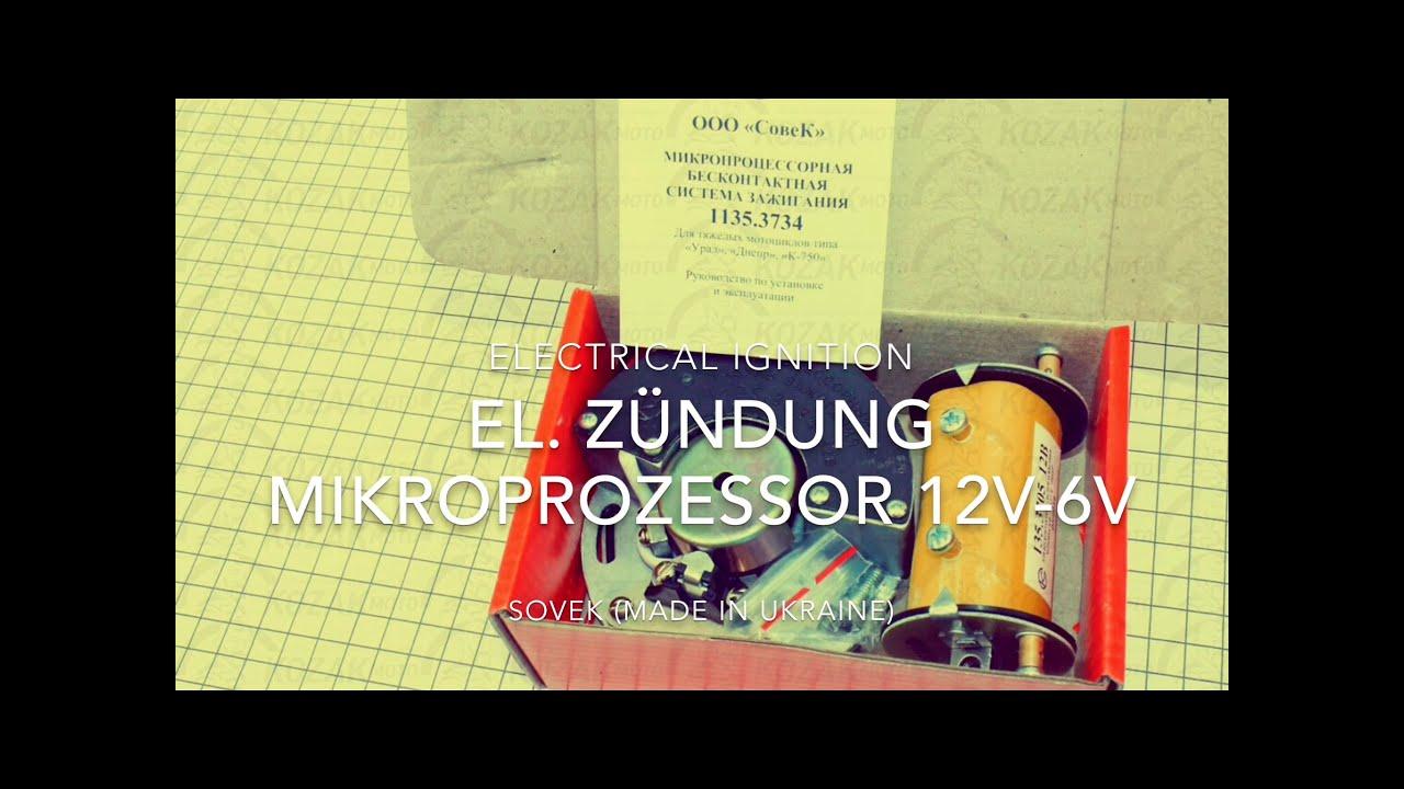 EL. ZÜNDUNG MIKROPROZESSOR 12V-6V M72 K750 URAL DNEPR MT MW750 BMW ...