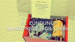 EL. ZÜNDUNG MIKROPROZESSOR 12V-6V M72 K750 URAL DNEPR MT MW750 BMW el. ignition