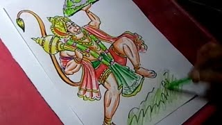 How to Draw Lord Hanuman with Sanjeevani Drawing