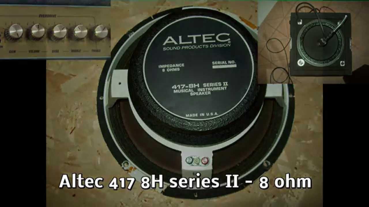 guitar speaker comparison tcase 2xiso celestion vintage 30 eminence legend v12 altec 417. Black Bedroom Furniture Sets. Home Design Ideas