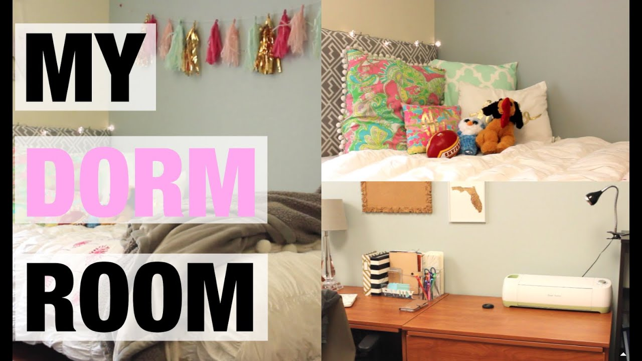 MY DORM ROOM TOUR! 2015 2016   YouTube Part 85