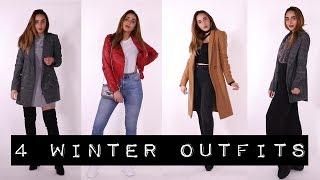 4 Winter Outfit Ideas أربعة أفكارلإطلالات شتوية