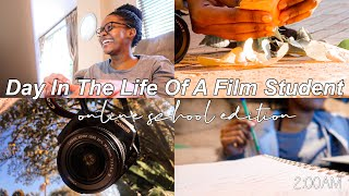 A Day In The Life Of A Film Student: Online School Edition✏️ | South African YouTuber