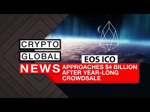 EOS ICO APPROACHES $4 BILLION AFTER YEAR LONG ICO