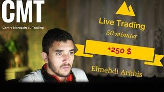 Live Trading -/ une Perte , Quatre Gains /  + 250 $ - Centre Marocain du Trading