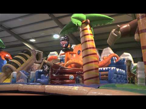 The biggest bouncy castle, moonwalk, bounce house in the world (official video)
