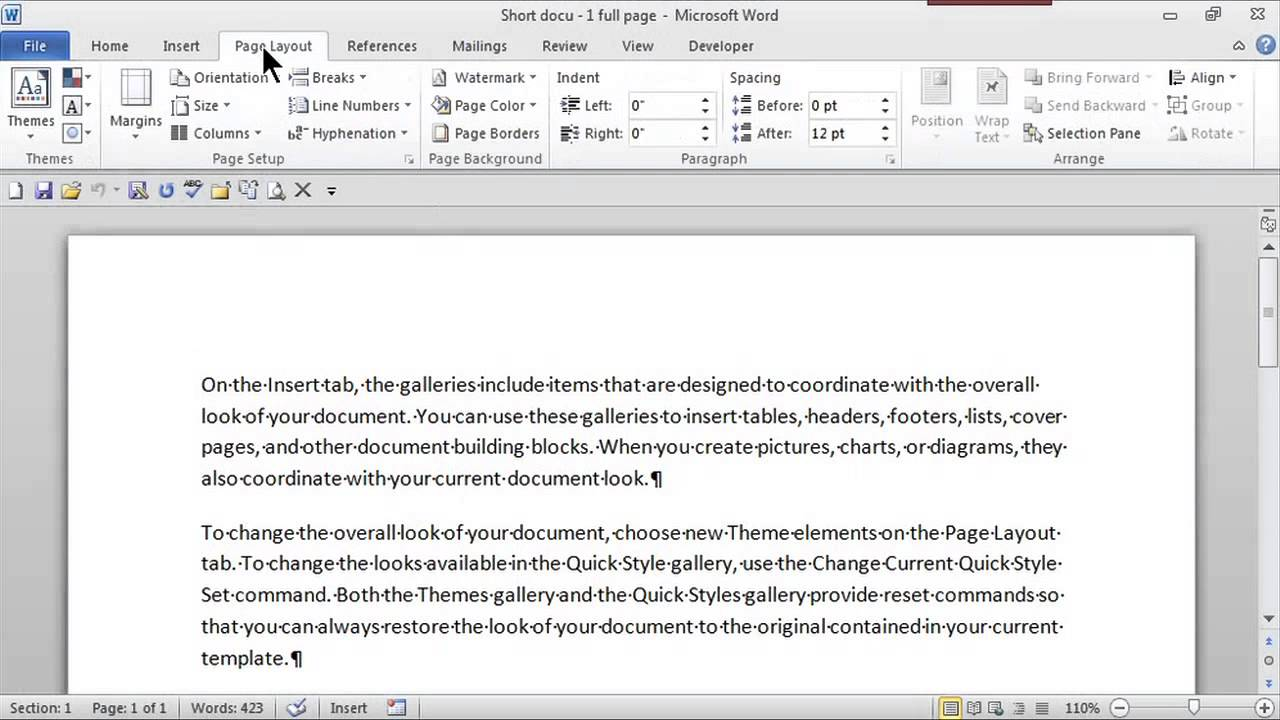how to create word themes ms word skills